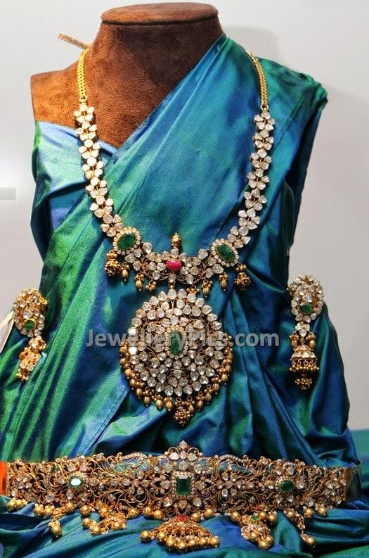 Diamond and ruby wedding jewellery