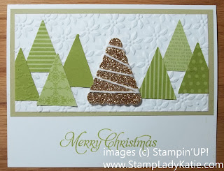 Christmas card made using the Petite Pennants Punch