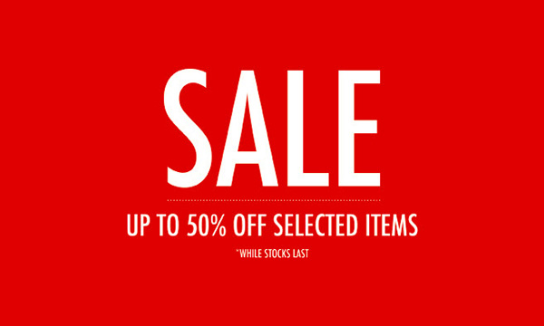 Sales up to 50% off selected items