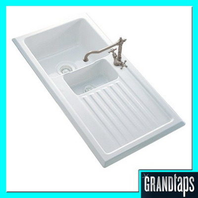 Reginox Sinks : Reginox Sinks - Reginox Ceramic Inset Kitchen Sink 1.5 Bowl With ...