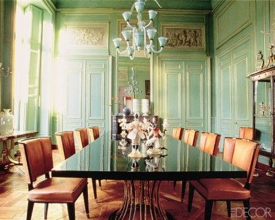 green dining rooms. Francoise \u0026 Yves Gastou Green Dining Rooms