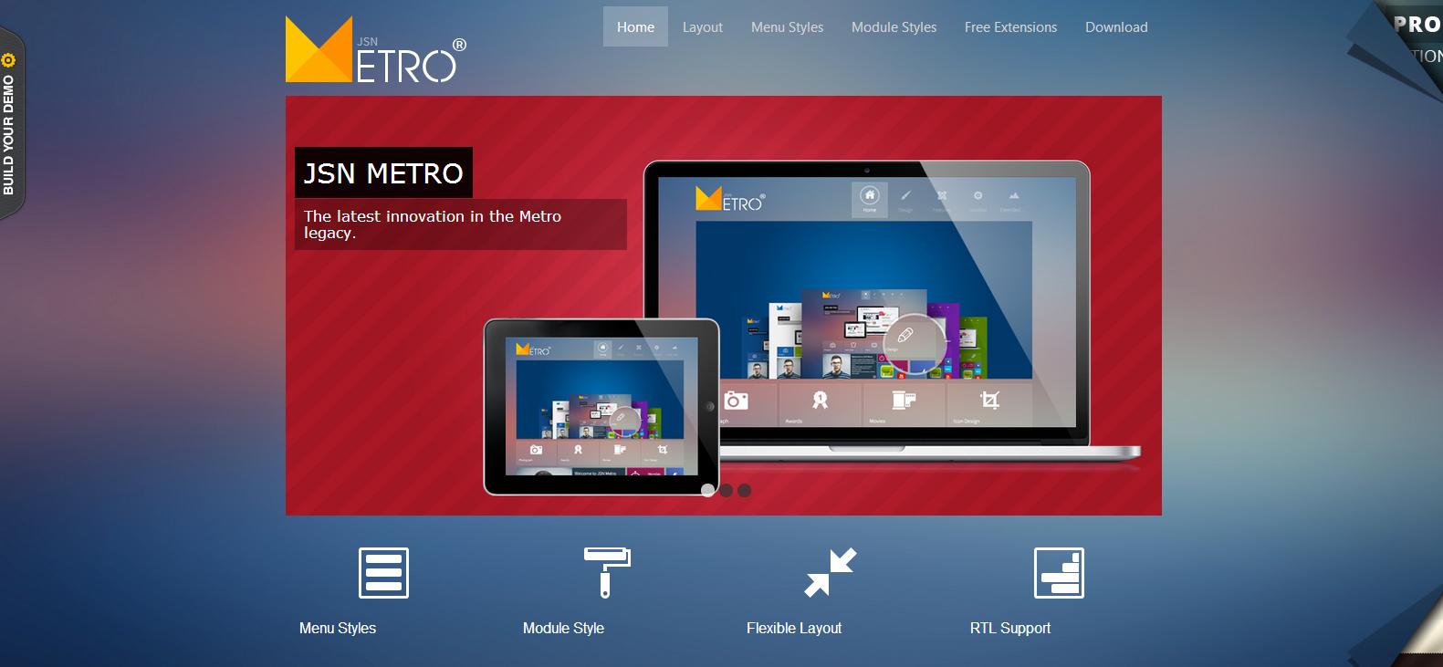 JSN Metro Free Joomla Template