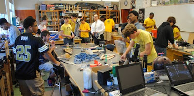 Image of a classroom using project based learning in engineering
