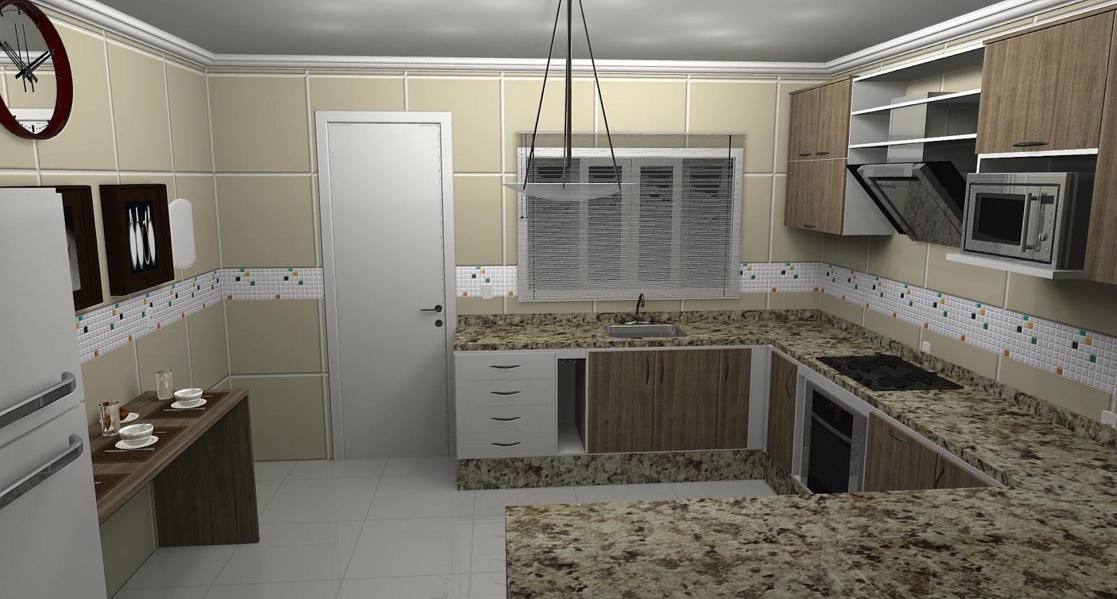 #496864 PROJETO DESIGN DECORAÇAO: Fevereiro 2013 1600x858 px Projeto Cozinha Em U_4187 Imagens
