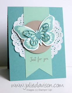 Stampin' Up! Watercolor Wings butterfly card #stampinup www.juliedavison.com