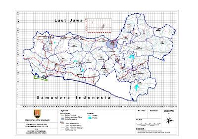 Peta Orientasi Kota Semarang Dalam Jawa Tengah