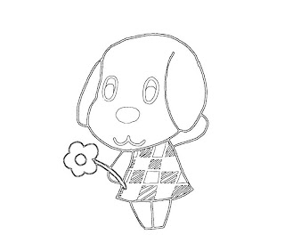 #19 Animal Crossing Coloring Page