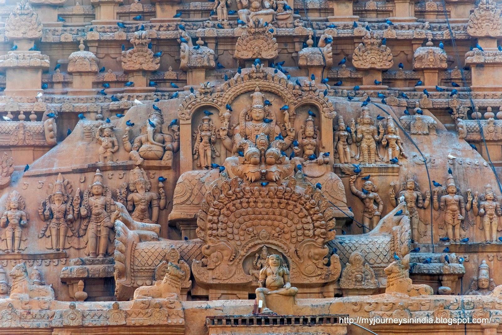 Thanjavur Brihadeeswarar Temple Tower closeup