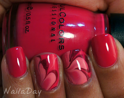 NailaDay: Sinful Colors Folly Watermarble