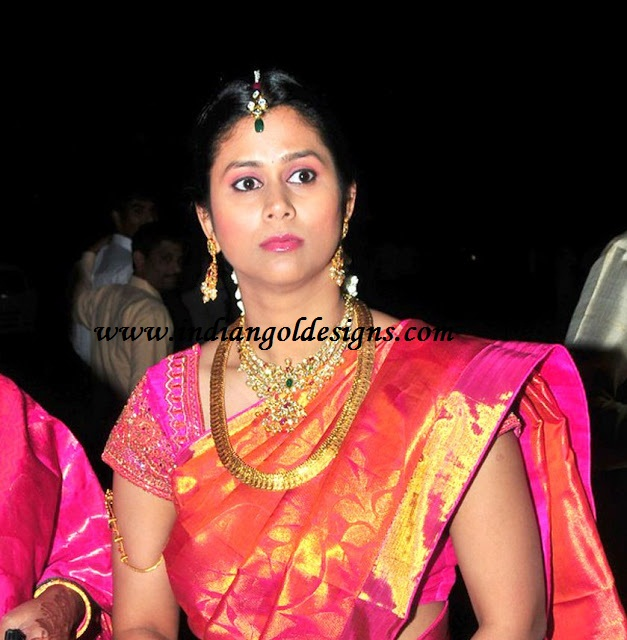 Gold and Diamond jewellery designs: Allu arjun's sister-in-law in ...