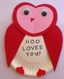 owl valetine's day craft