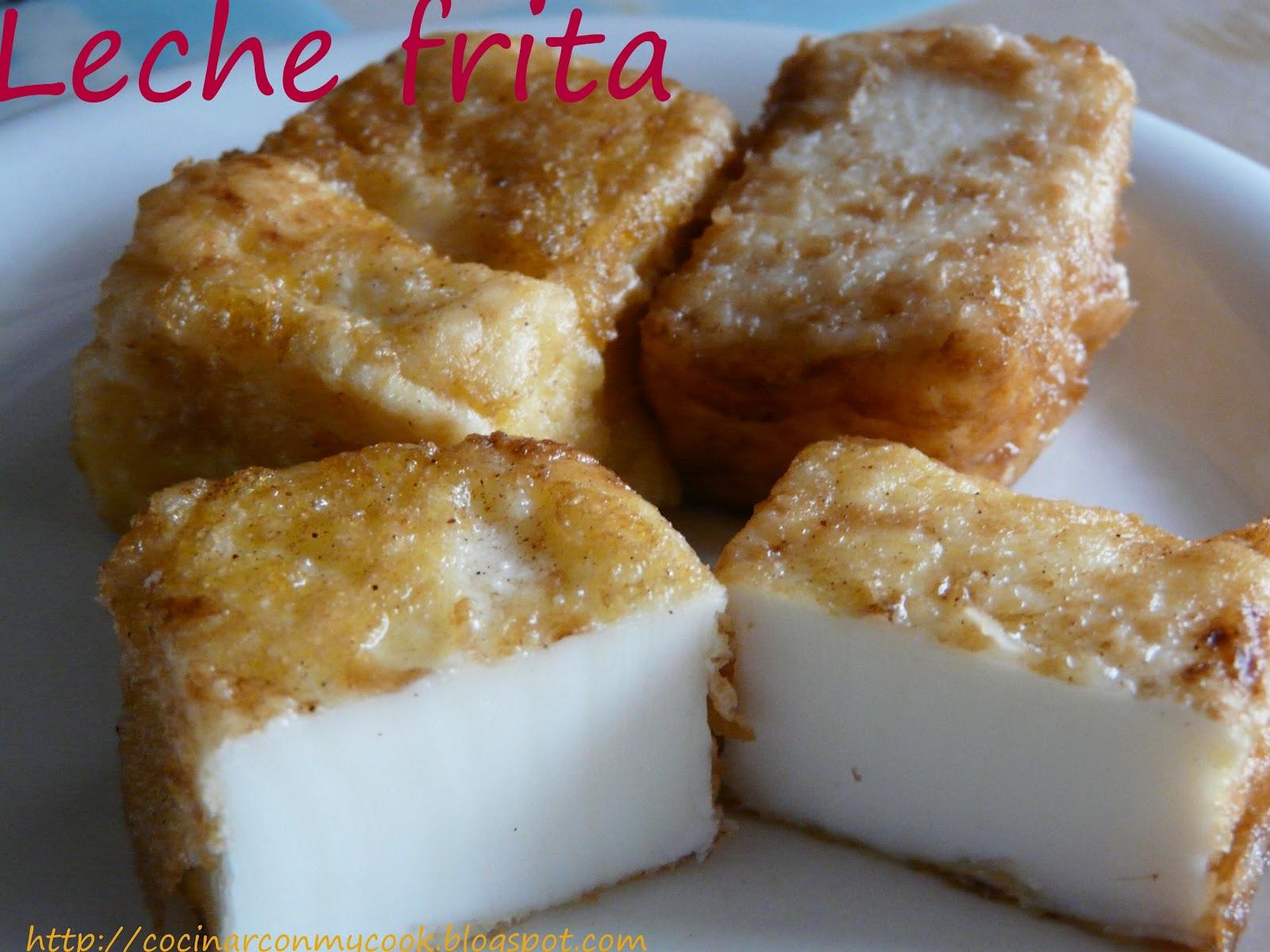 cocinar con mycook leche frita