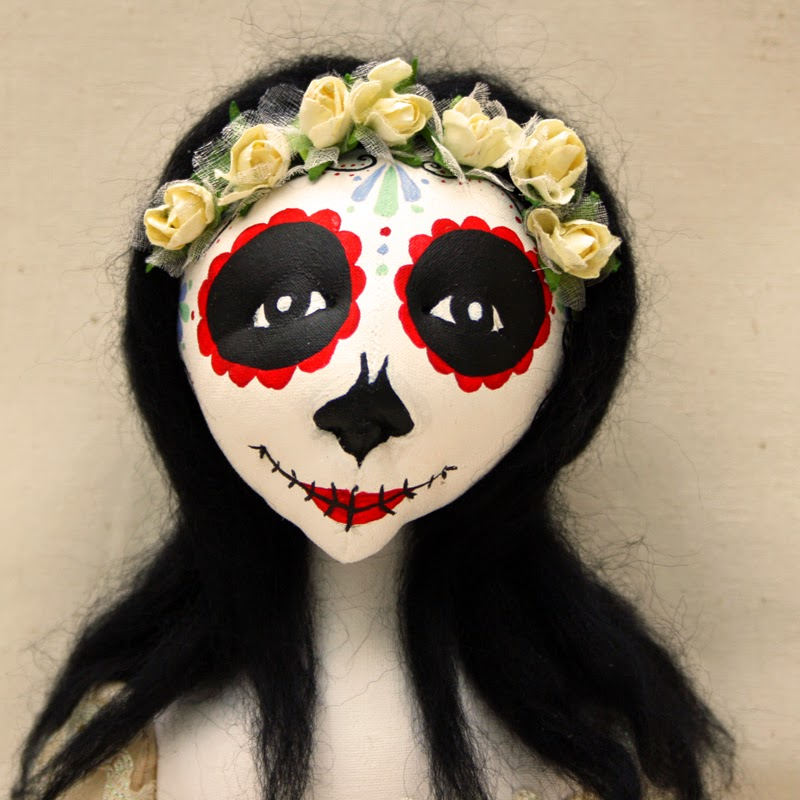 ooak day of the dead doll