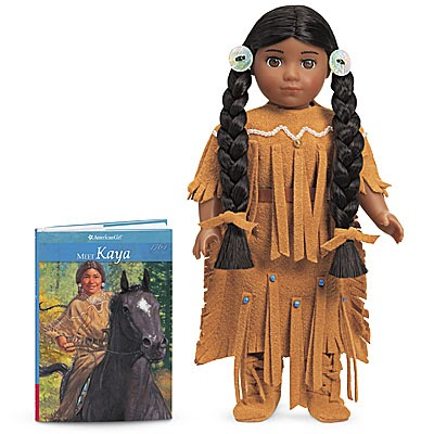 Not surprising, Tessa has fallen in love with all things Kaya and put her at the top of her birthday list. To celebrate our studies of Native North Americans, I surprised her with a mini Kaya doll.