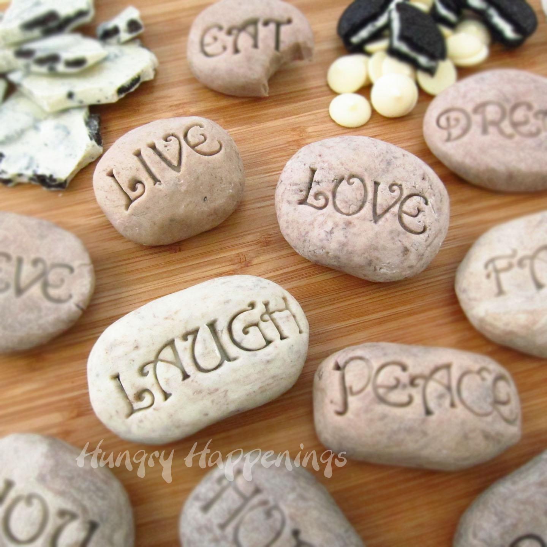 Fudge garden stone cookies 39 n cream fudge garden stone for Crafts using stones