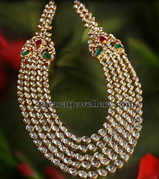 Five Rows Kundan Polki Haar