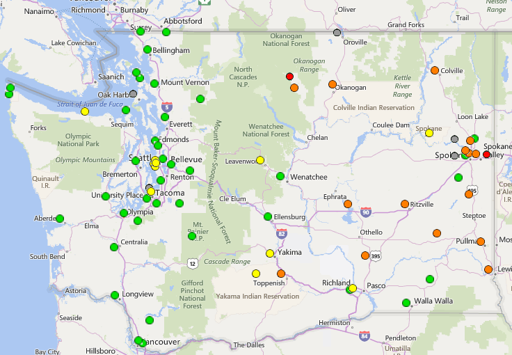 Washington Department of Ecology: Measuring air quality around the