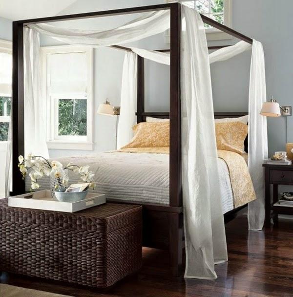 schlafzimmer himmelbett bett schlafzimmer deko ideen