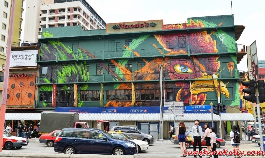 Nando's Art Initiative 2014, Alive, Nando's Chinatown Outlet Graffitti Mural art