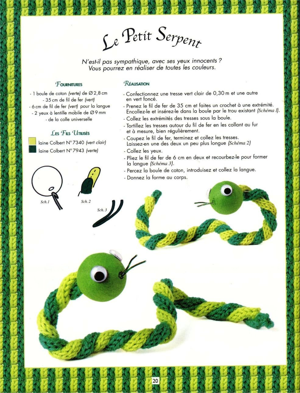 cobra em crochet