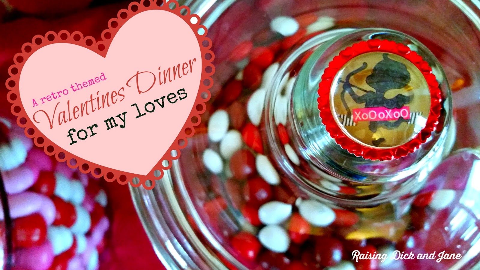 #ad #RedVelvetLove #CollectiveBias Retro Valentines Day Party