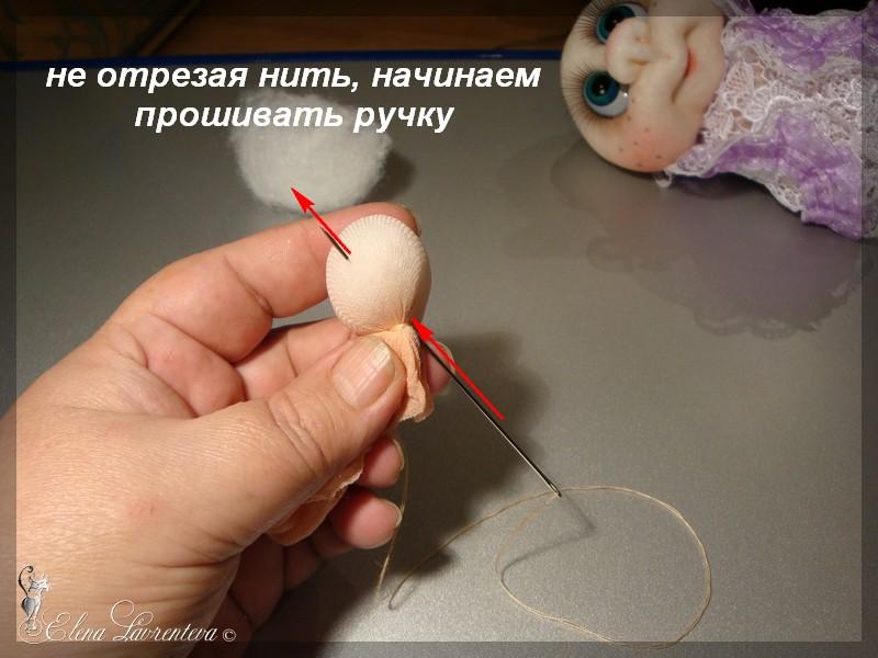Как сшить ручки для чулочной куклы 70
