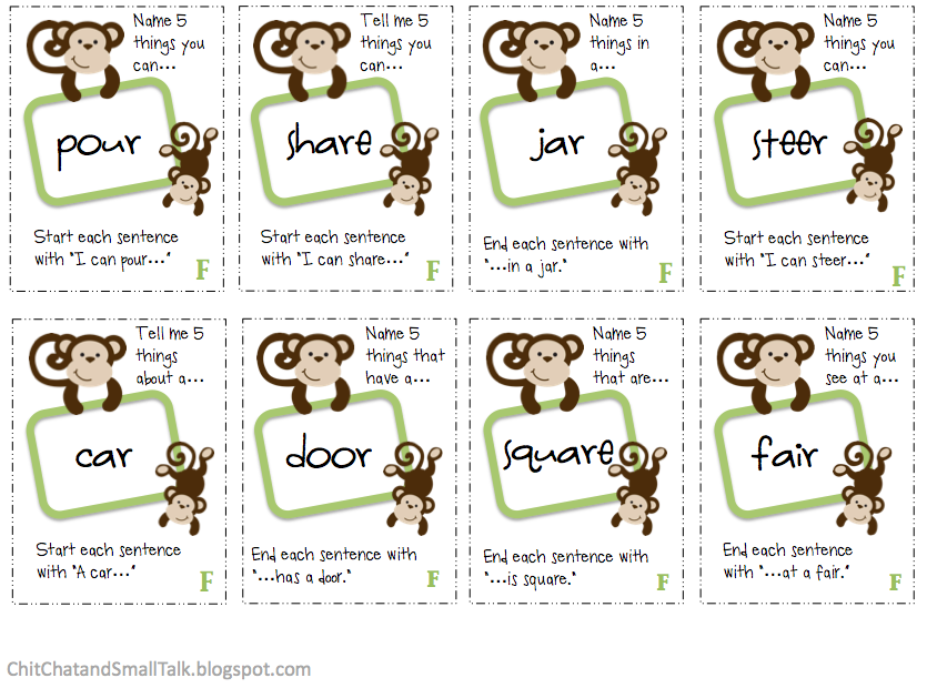 Chit Chat and Small Talk: Monkey Business Combo Pack