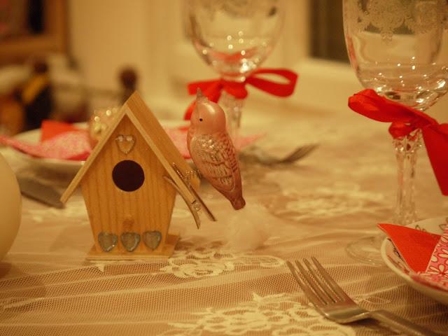 déco table fête oiseau