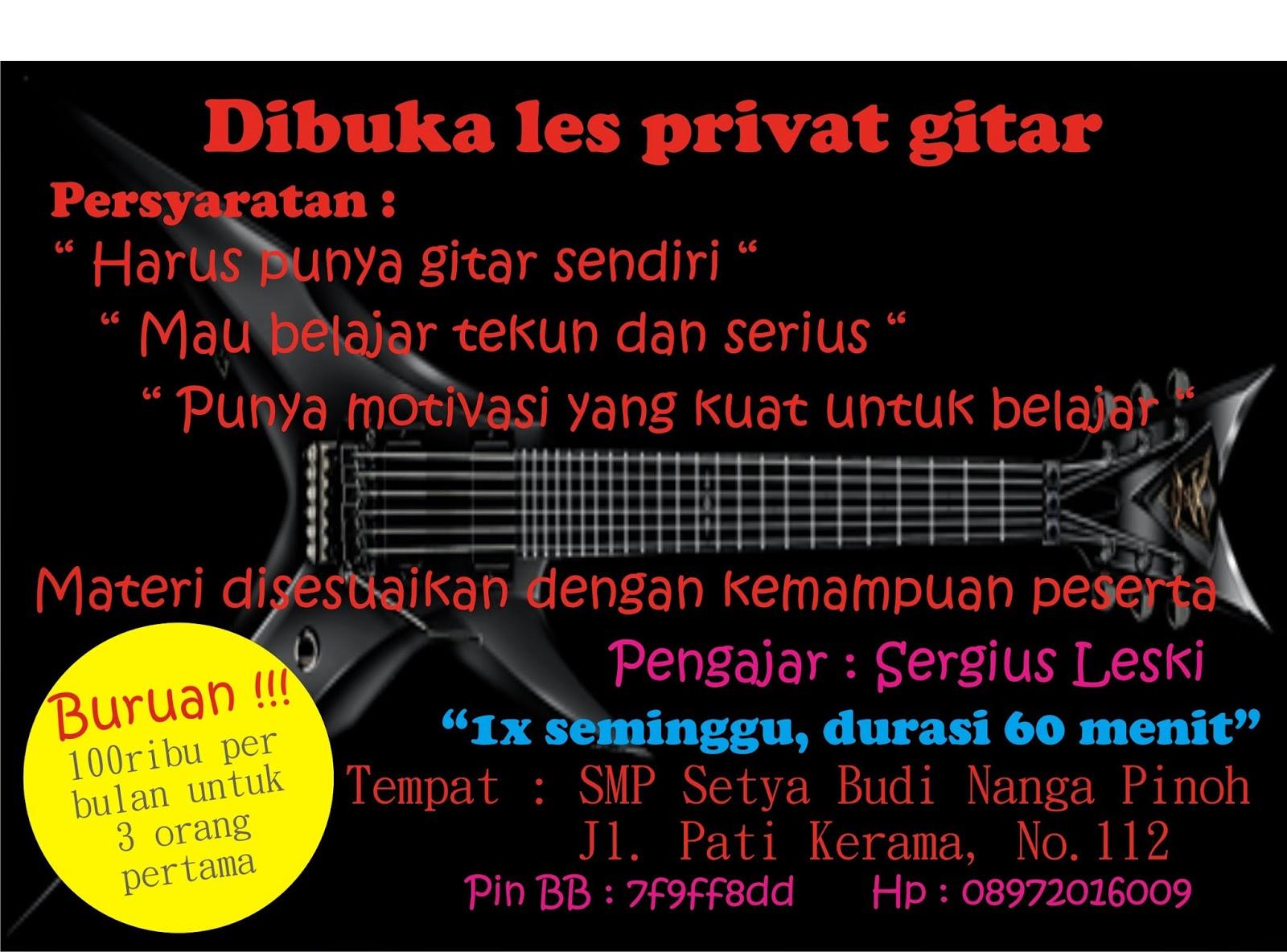 belajar gitar, belajar gitar akustik, belajar gitar pemula, les privat, les privat gitar,