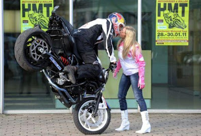 Most Amazing Bike Stunt Kiss Ever