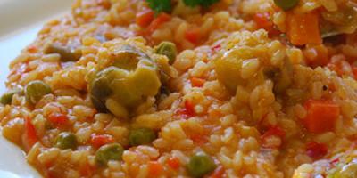 receta arroz con menestras y verduras