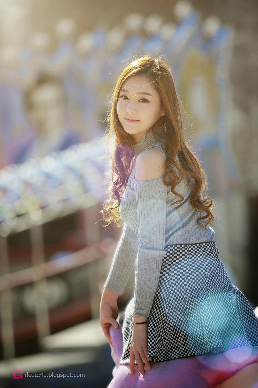 2 Pretty Yu Jin In Outdoors Photo Shoot - very cute asian girl-girlcute4u.blogspot.com