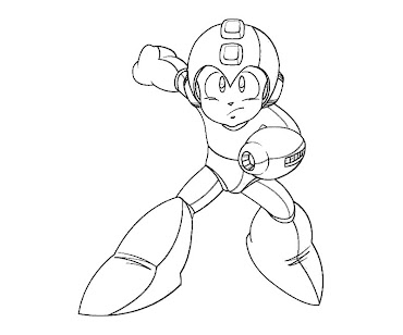 #21 Mega Man Coloring Page