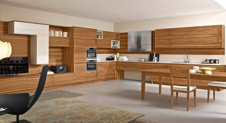 Materiales para cocinas iii maderas c lidas e - Cocinas color nogal ...