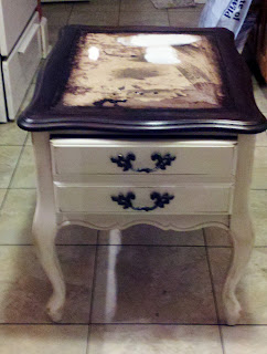 French end table gets a new 'do.