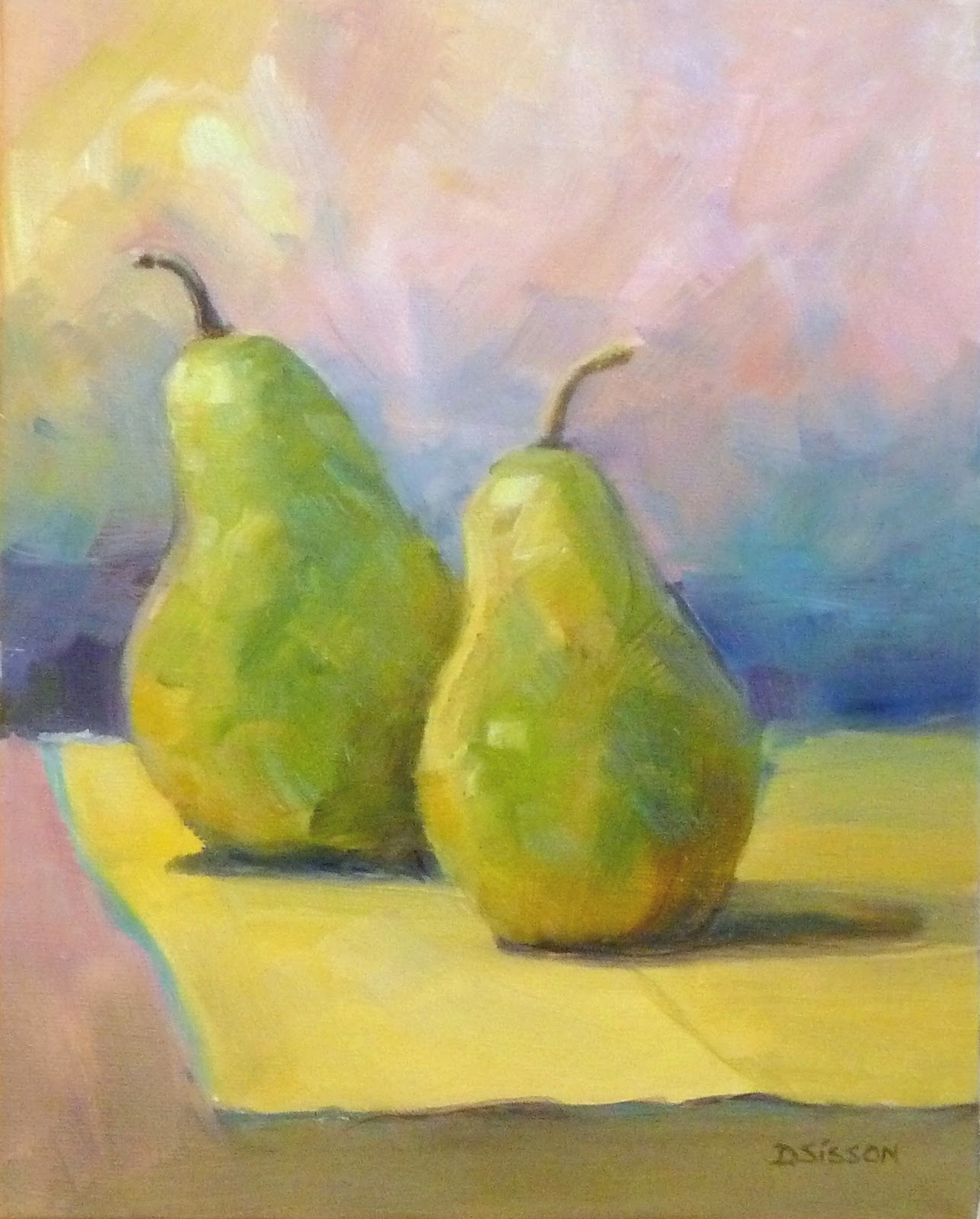 Daily Painting Projects: Pear Impressions Oil Still Life Painting ...
