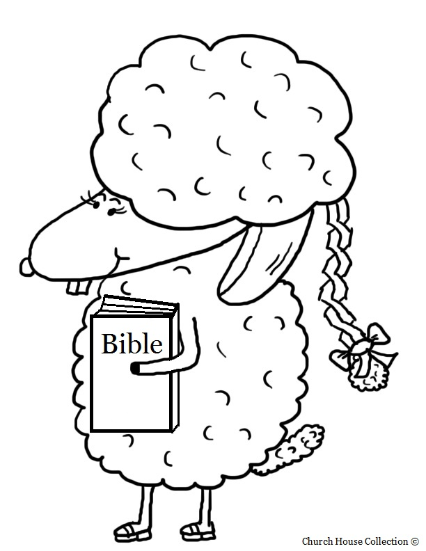 Sheep+With+Braided+Hair+And+Bible+Coloring+Page+For+Sunday+School. title=