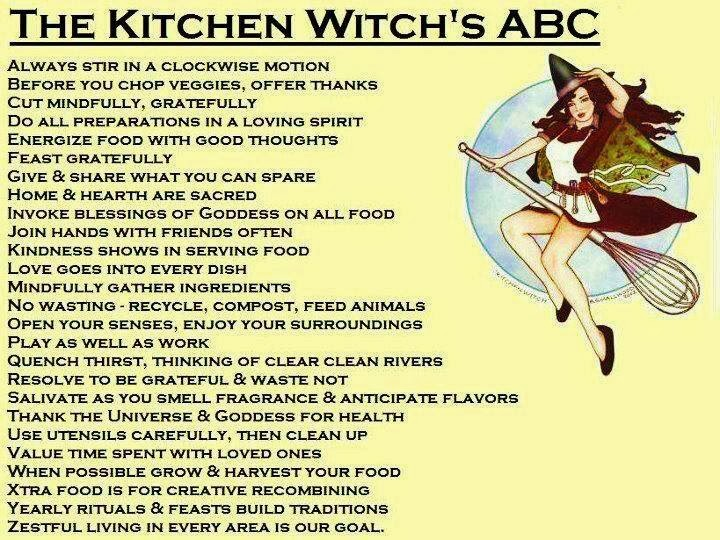 Crone Cronicles: The kitchen witches ABC\'s