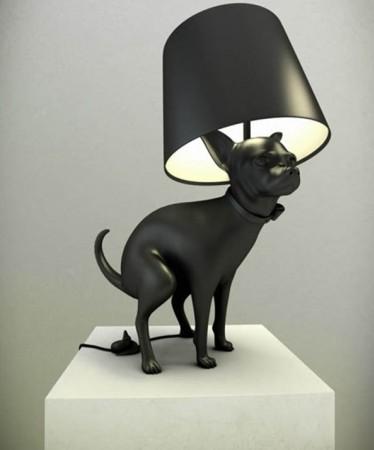 design Decoração com abajur de Cão