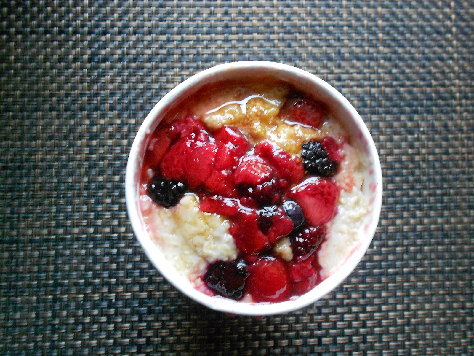 snacking squirrel timmies mixed berry oatmeal. Black Bedroom Furniture Sets. Home Design Ideas