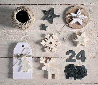 kit pour faire un calendrier de l'avent, comment faire un calendrier de Noël, calendrier handmade