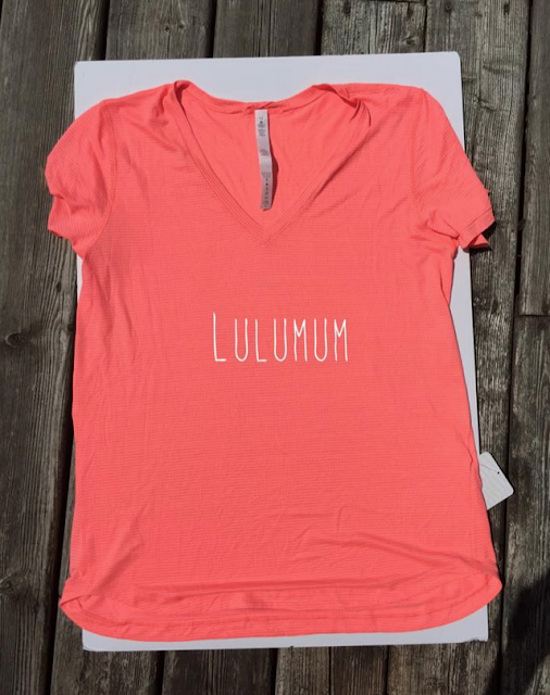 Lululemon Grapefruit What The Sport Tee