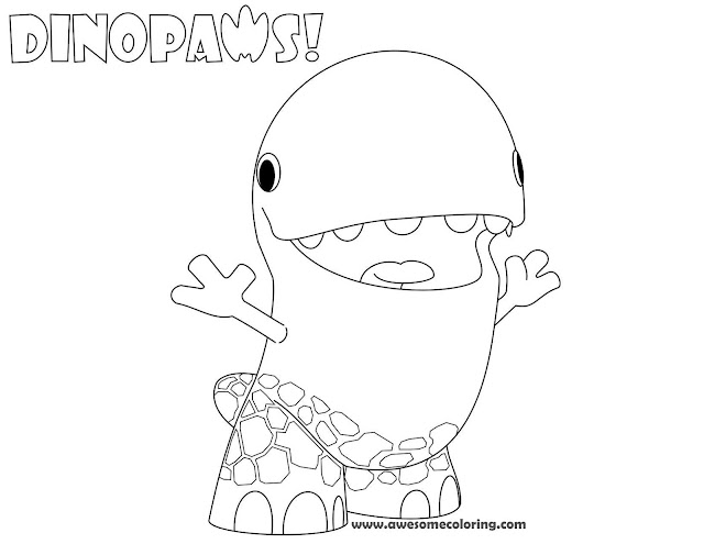 Dinopaws Tony Coloring Page