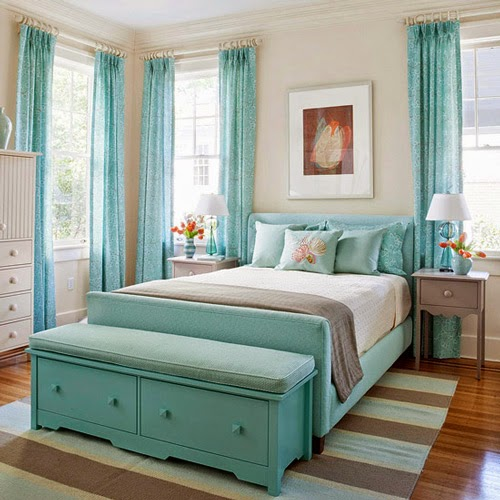 Delightful Light Blue Teenage Girls Bedroom Design Ideas