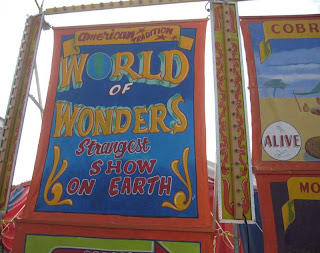 World of Wonders painted title sign