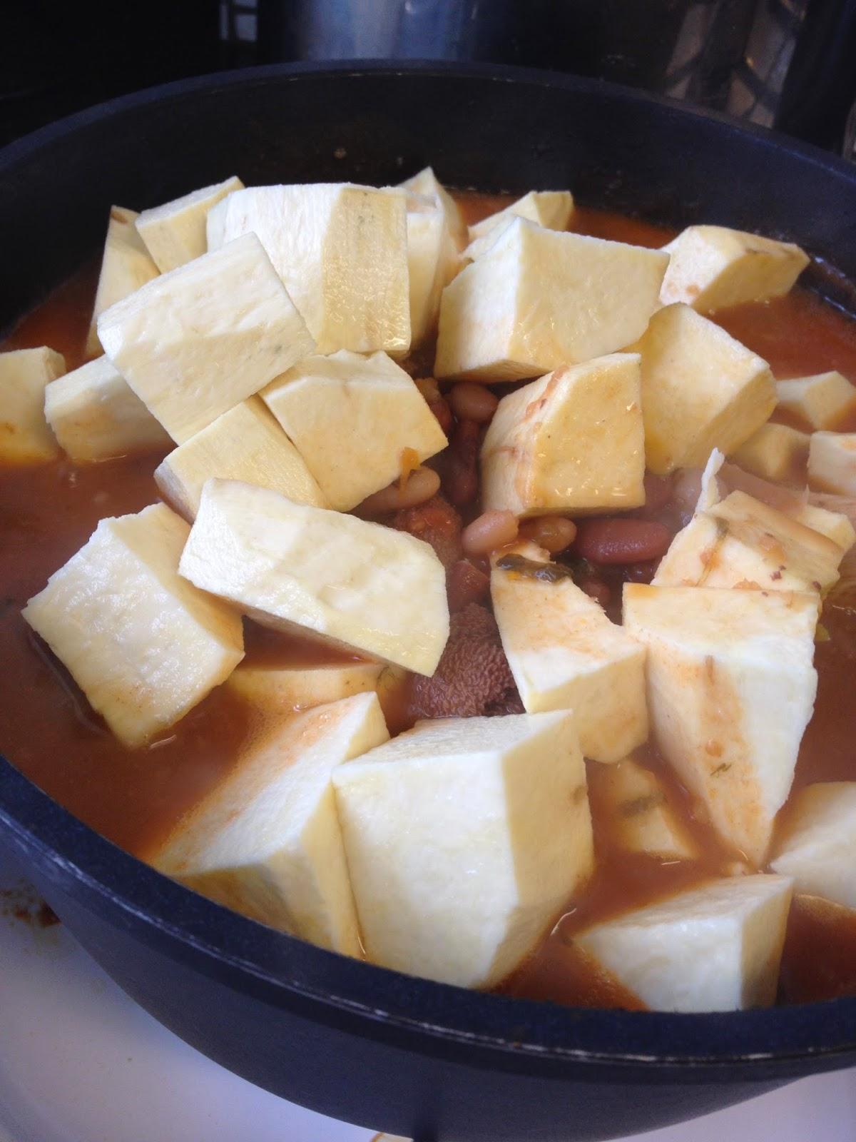 Haricots patates douce tripe d 39 agneau saveurs d 39 ici mbuji mayi - Recette patate douce blanche ...