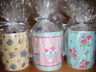 pretty mugs filled with sweets