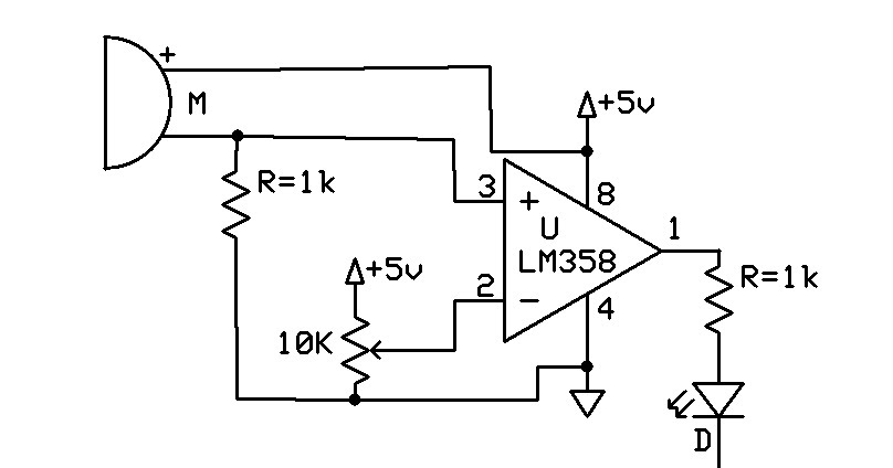 emerging technologies  sound detector using mic and lm358