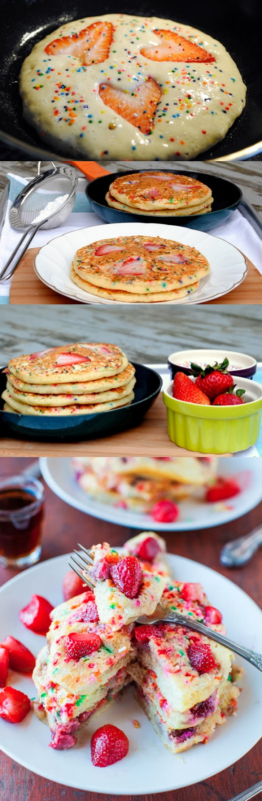 Valentines Roundup - Strawberry & Sprinkles Pancakes