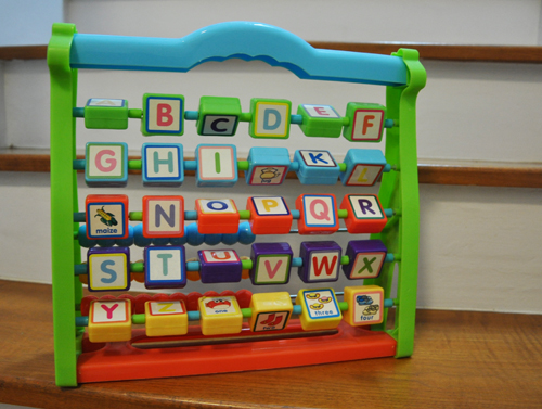 Alphabet Learning Toys : The bub in the belly learning the alphabet
